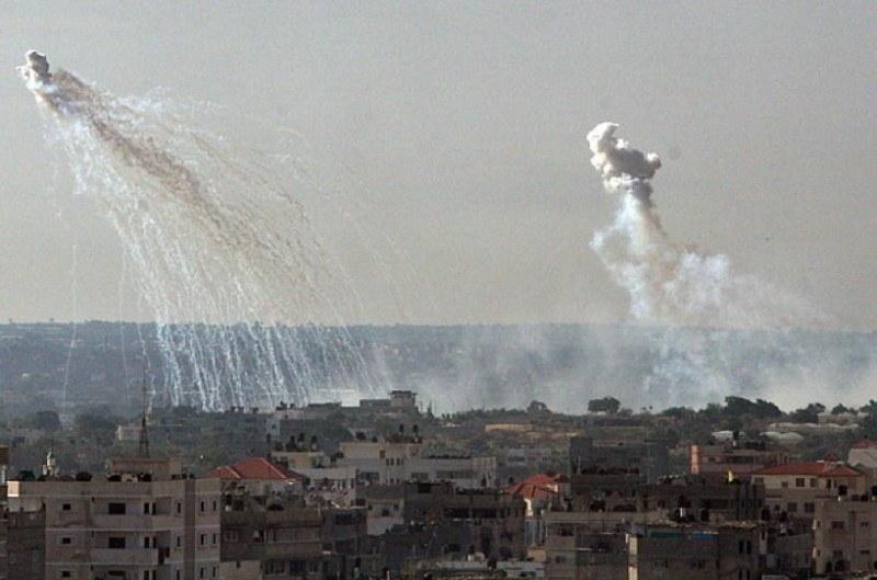Occupied Palestine Smoke Explosion