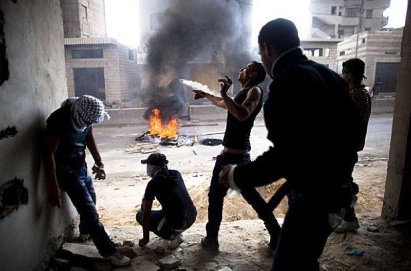 Occupied Palestine Tires Burning