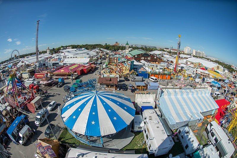 Oktoberfest 2015 Aerial