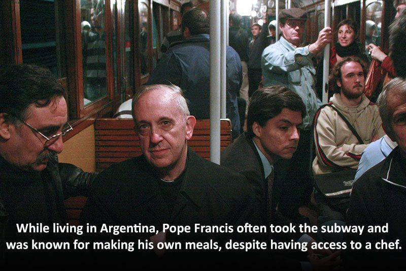 Pope Francis Subway