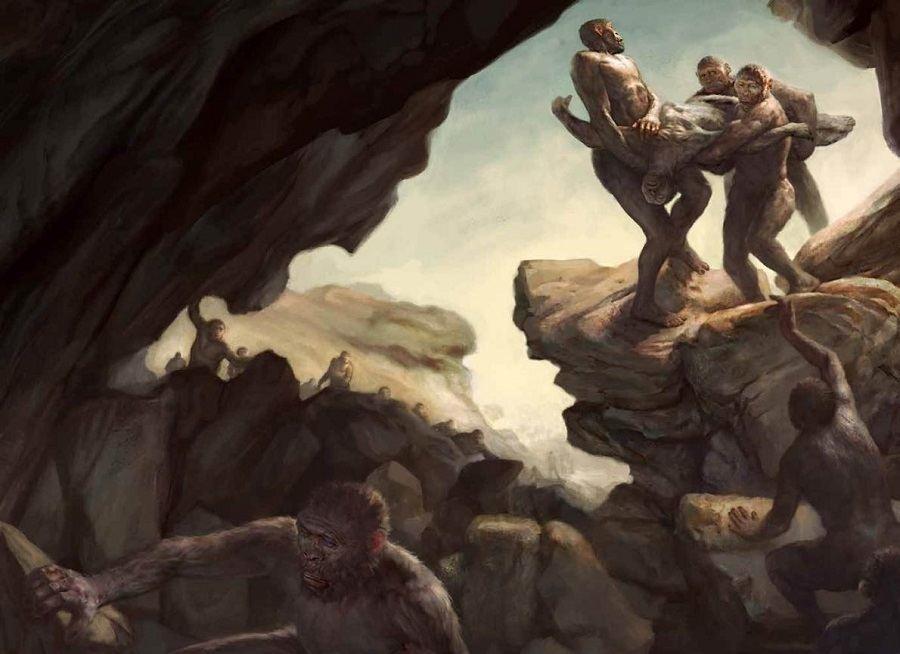 Primitive Human Ancestors Corpse