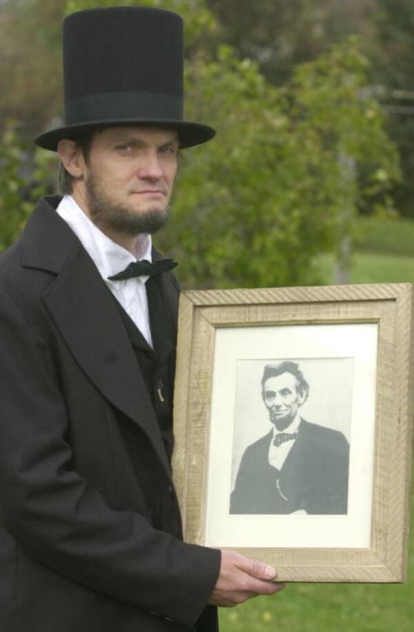 Ralph Lincoln And Abe Lincoln Portrait