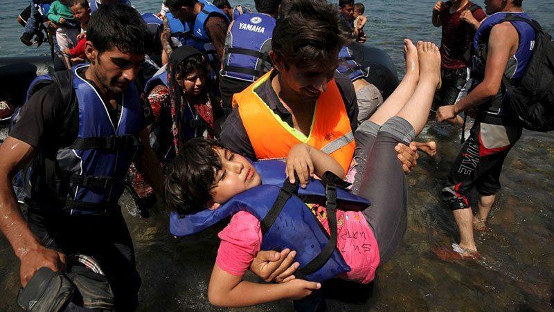 Syrian Refugees Arrive Athens