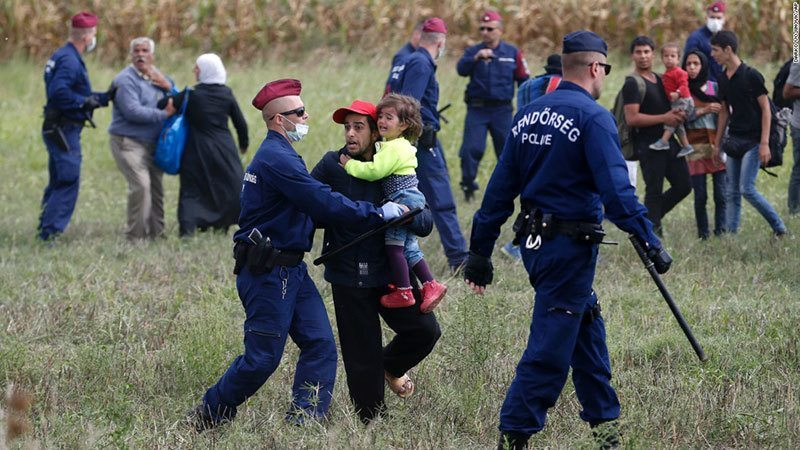Refugees Arrive Hungary Police