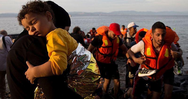Syrian Refugees Arrive Lesbos Embrace