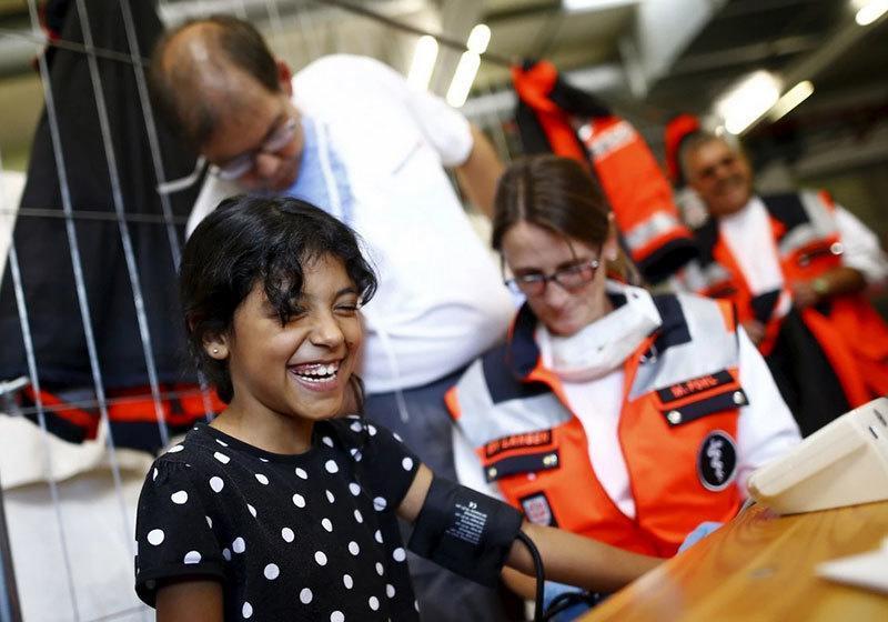 Refugees Arrive Medical Check