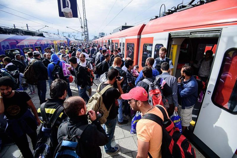 Syrian Refugees Arrive Munich