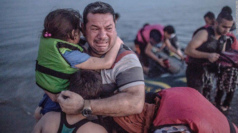 Refugees Arrive Tears