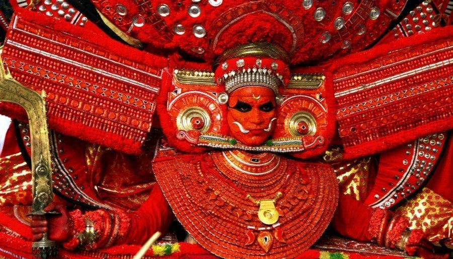 Gold Sword In Theyyam Festival