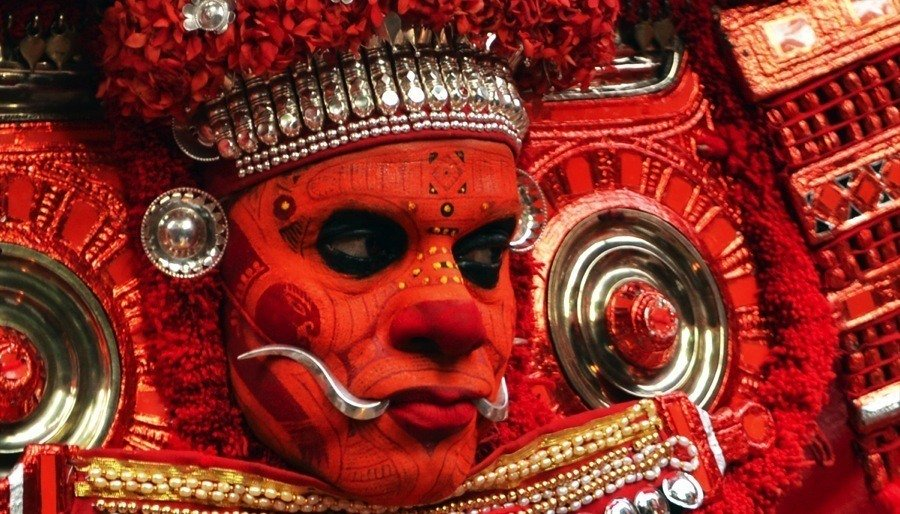 Theyyam India Malabar Painted Dancer