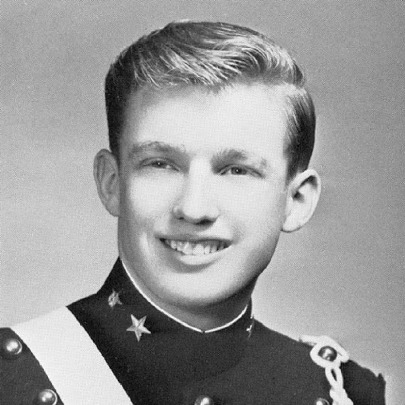 Donald Trump In A Cadet Uniform