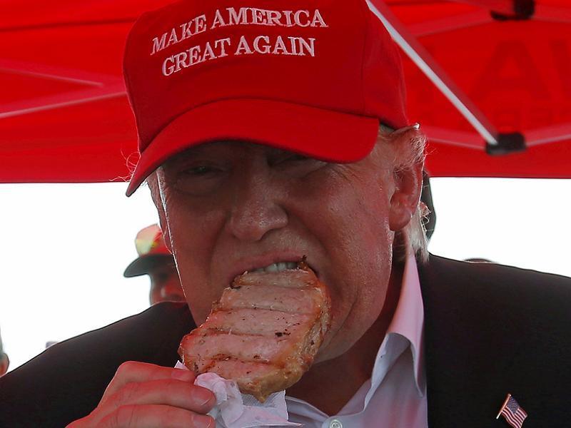 Donald Trump Eating