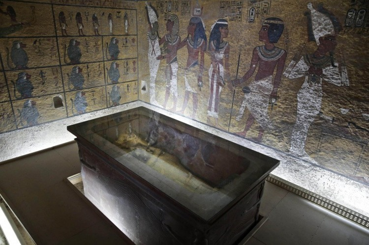 Tut Hidden Chamber Glass Case