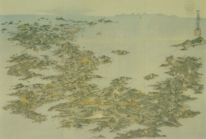 Ancient Maps Japan From Above