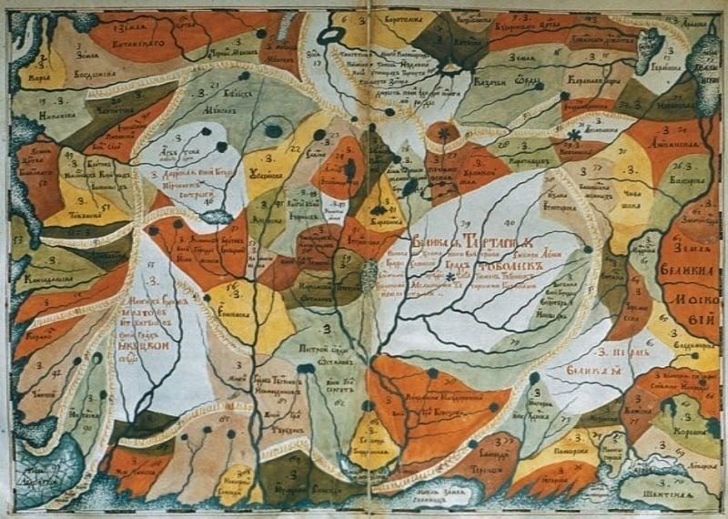 Ancient Maps Siberia