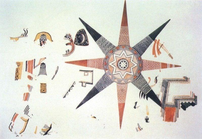 Ancient Maps Star Fresco