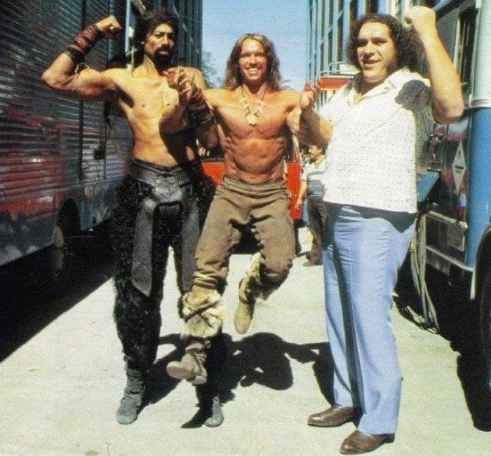 Andre The Giant Wilt Chamberlain Arnold Schwarzenegger