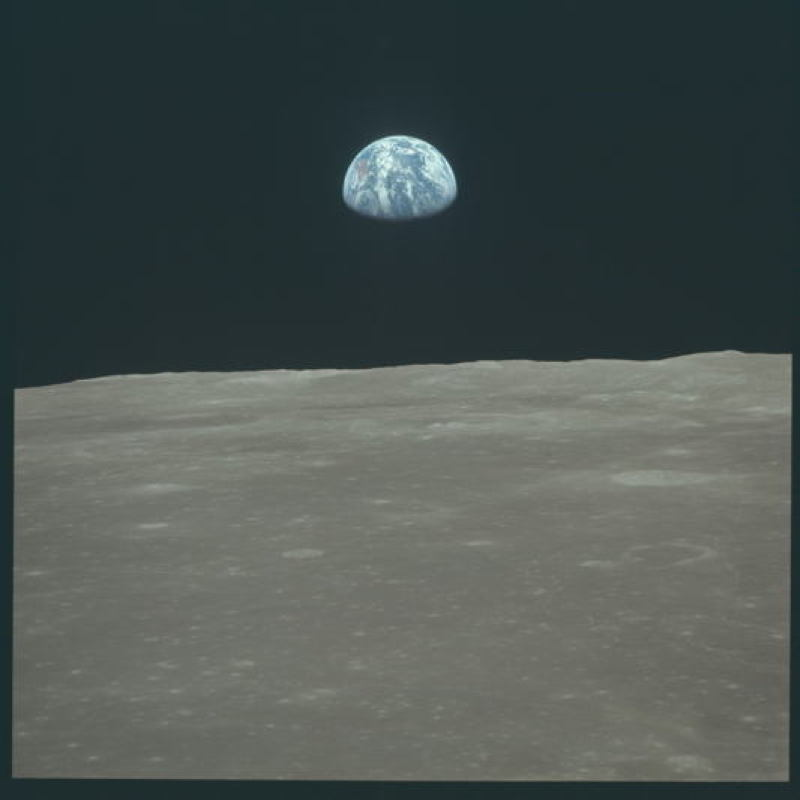 Apollo Project Archive Earth From Moon