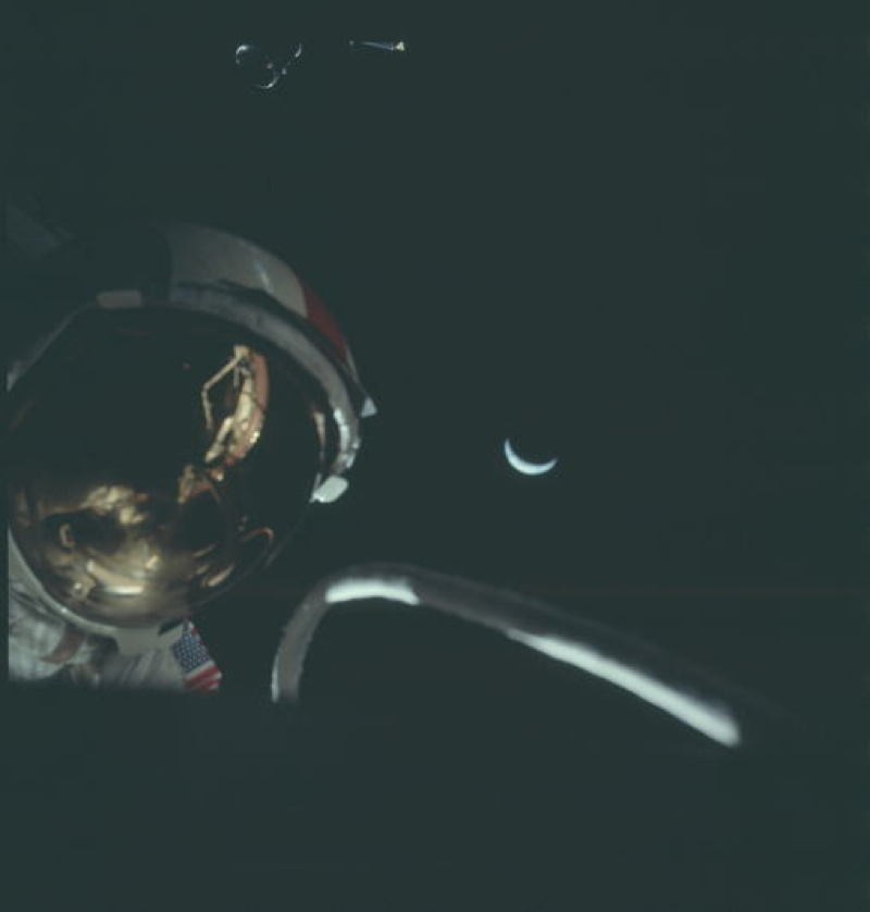 Apollo Project Archive Moonwalk Reflection
