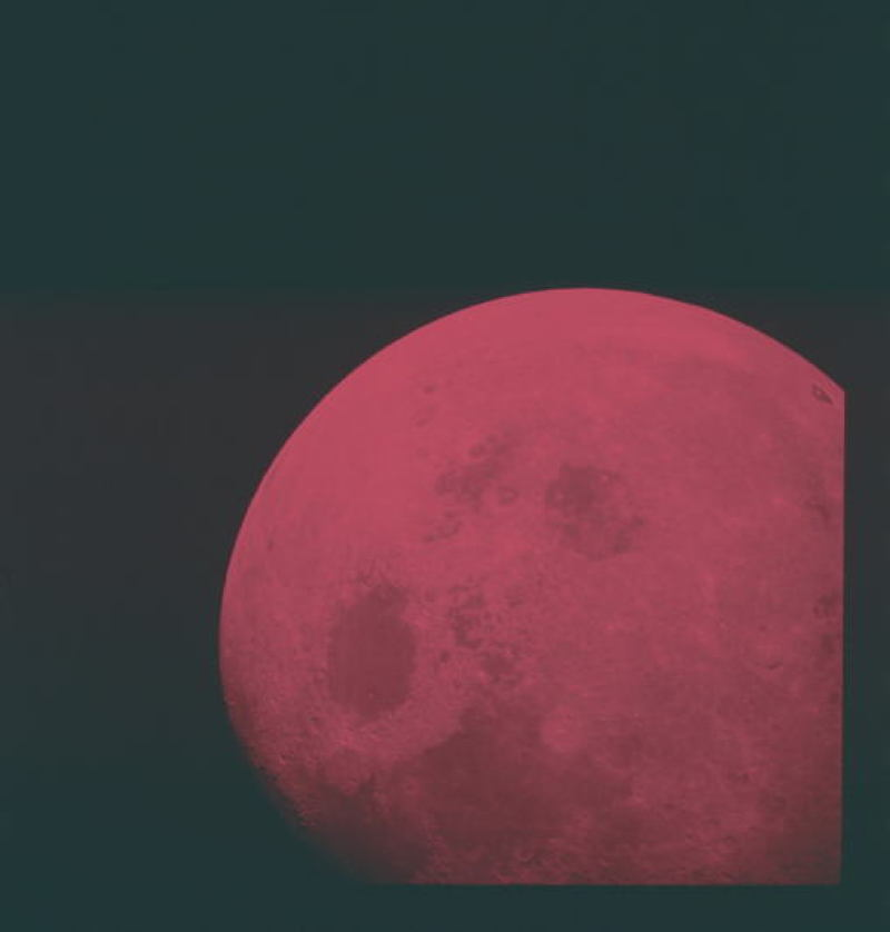 Apollo Project Archive Red Moon
