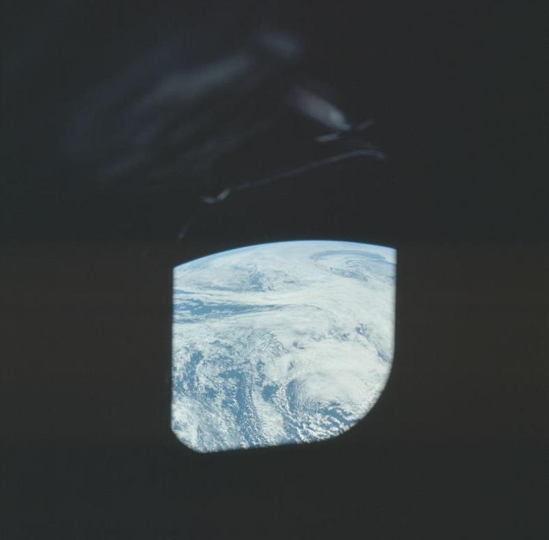 Apollo Project Archive Window Earth