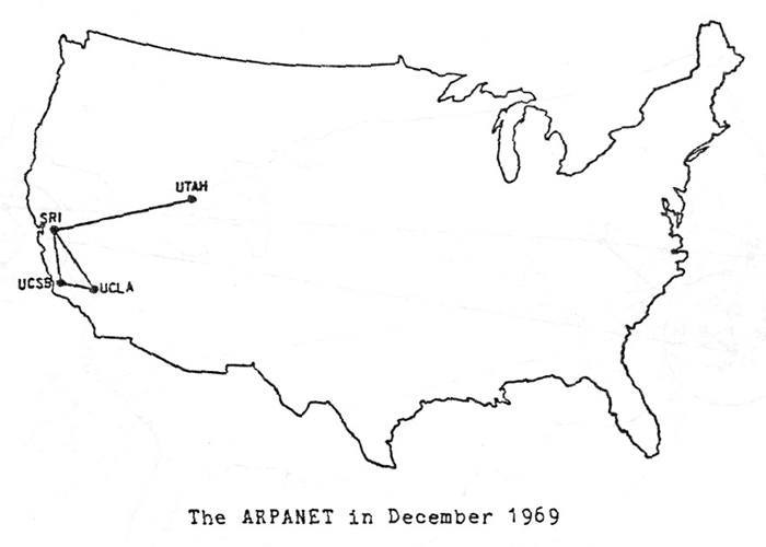Arpanet Map 1969