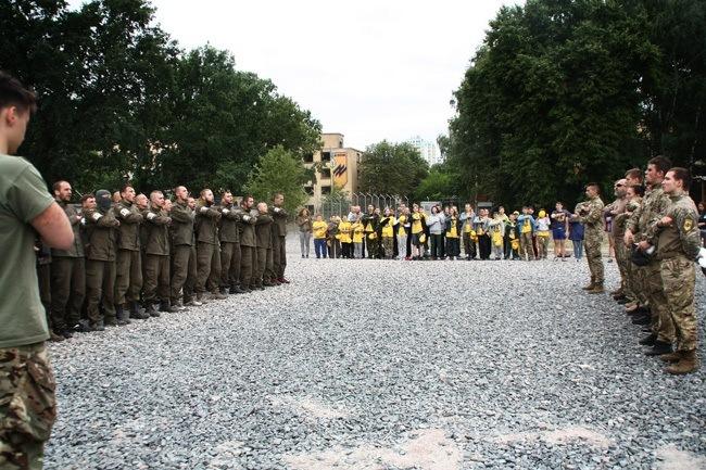 Azov Camp Visits Azov Battalion