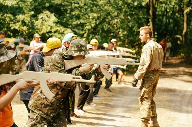 Azov Camp Wooden Guns