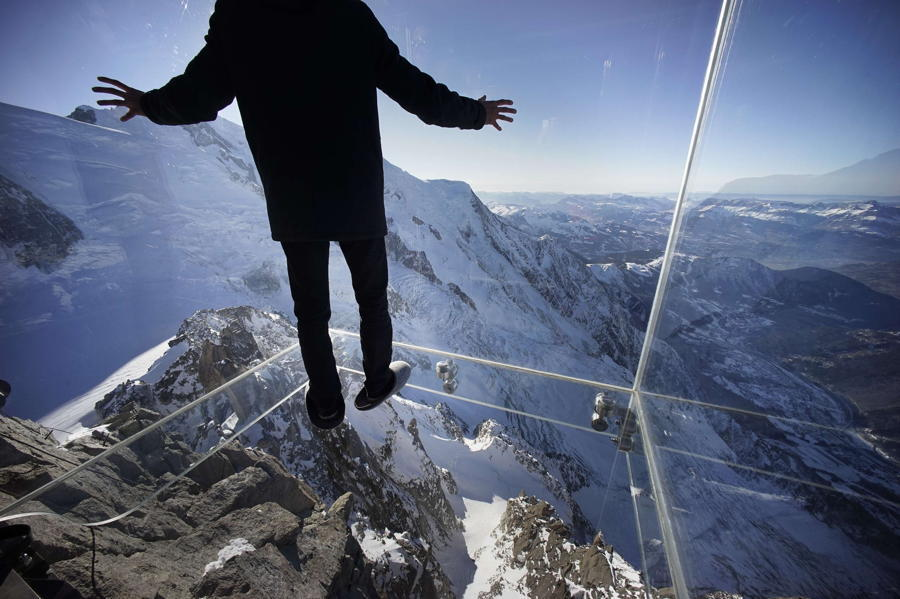 Chamonix Skywalk Mountain Snow