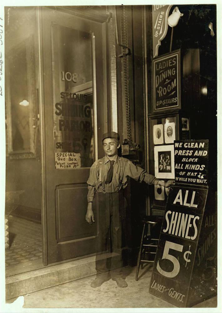 Child Labor 1900s Bootblack