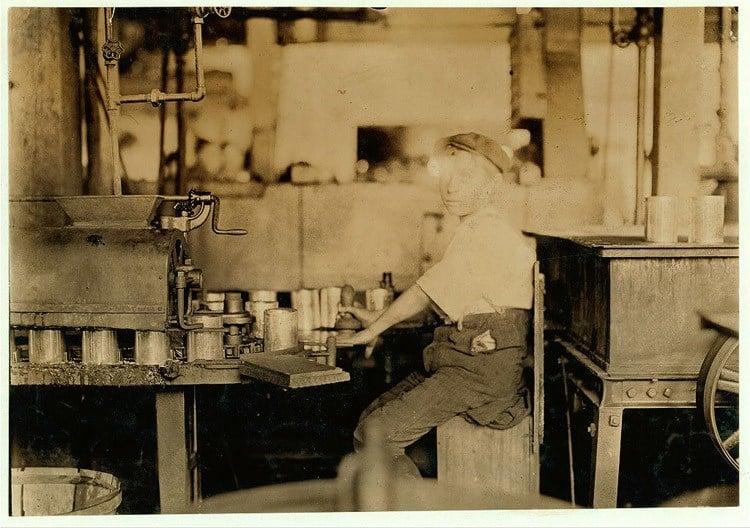 Child Labor 1900s Canning Machine