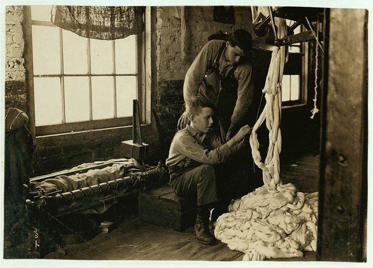 Child Labor 1900s Cotton Mill