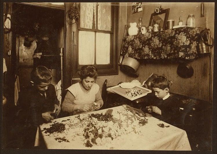 Child Labor 1900s Flower Making