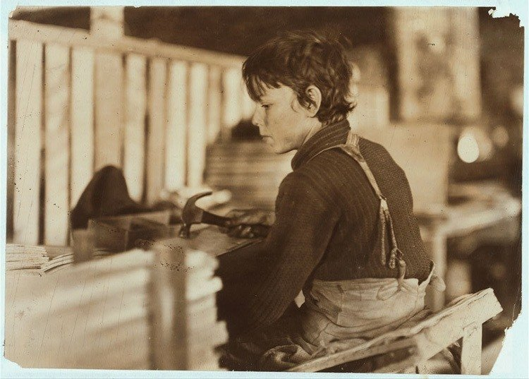 Child Labor 1900s Melon Basket