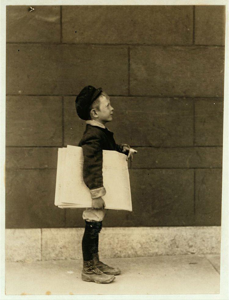 Child Labor 1900s Newsie
