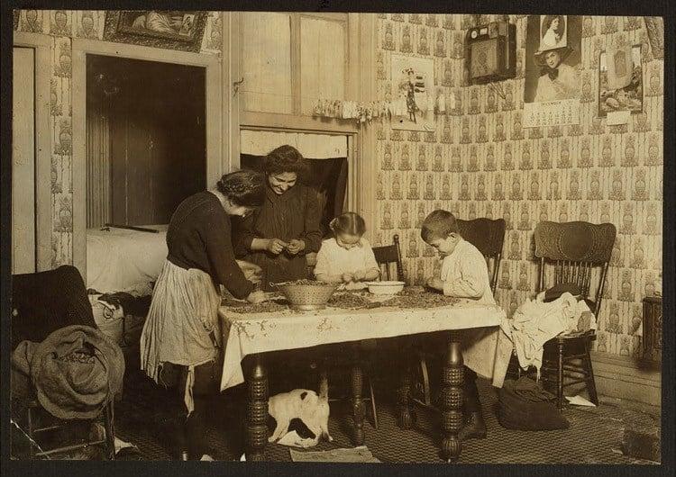 Child Labor 1900s Nut Cracking