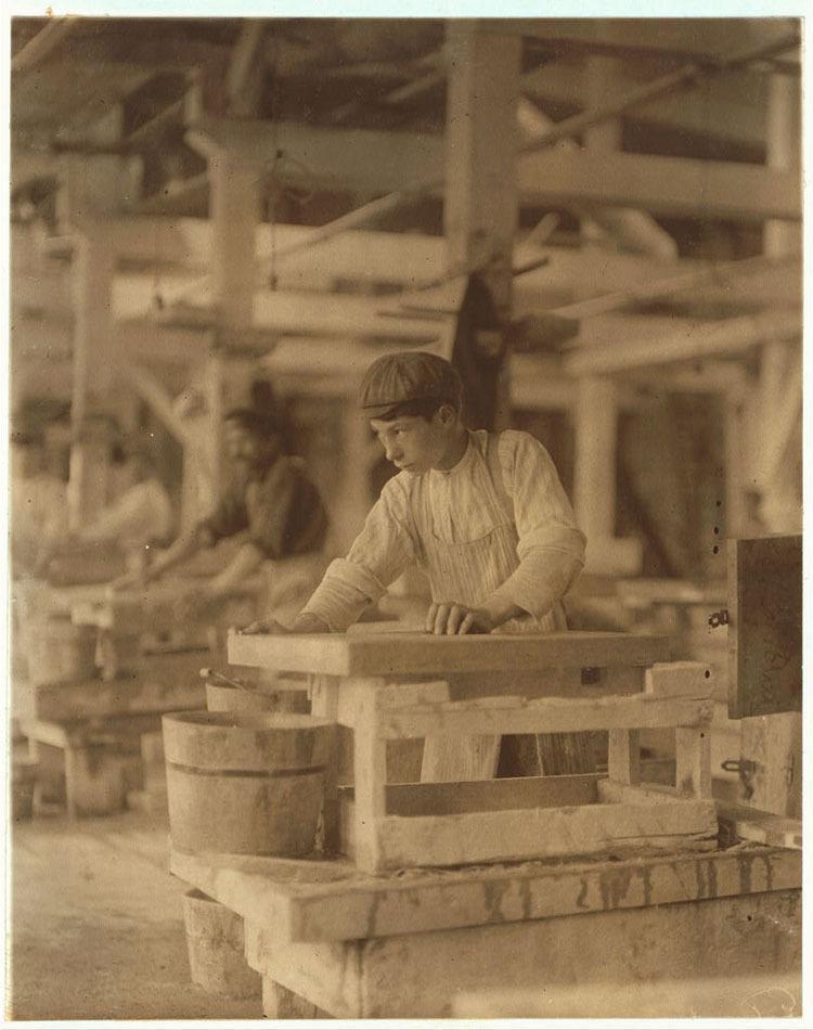 Child Labor 1900s Polishing Marble