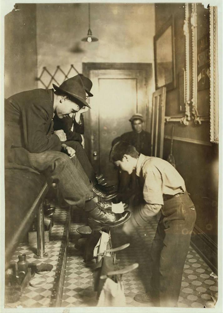Child Labor 1900s Shoe Shine