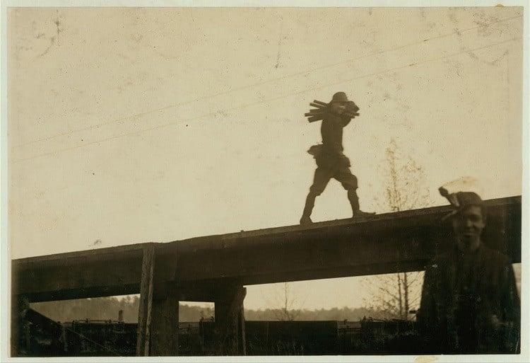 Child Labor 1900s Steel Rods