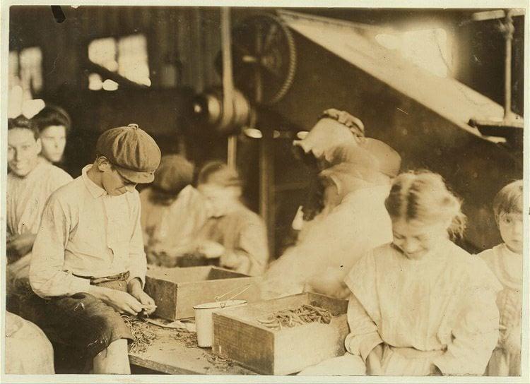 Child Labor 1900s Stringing Beans