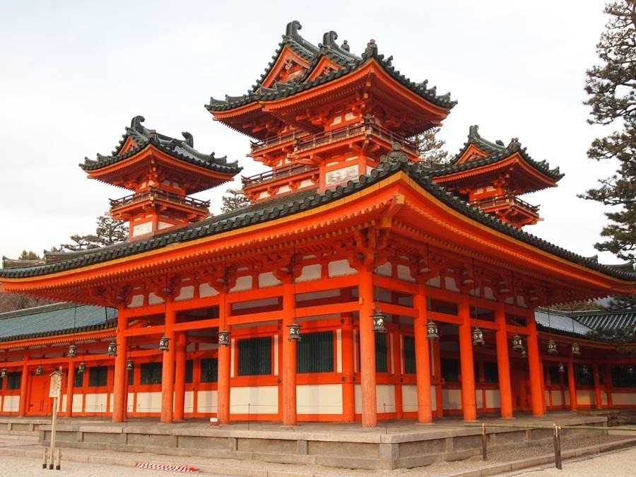 colorful Kansai Japan Heian jingu
