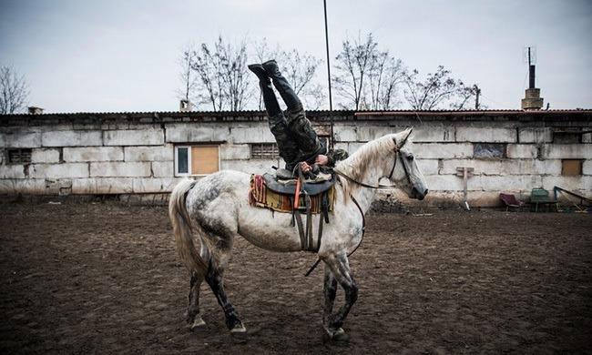 Cossack Rebel On Horse