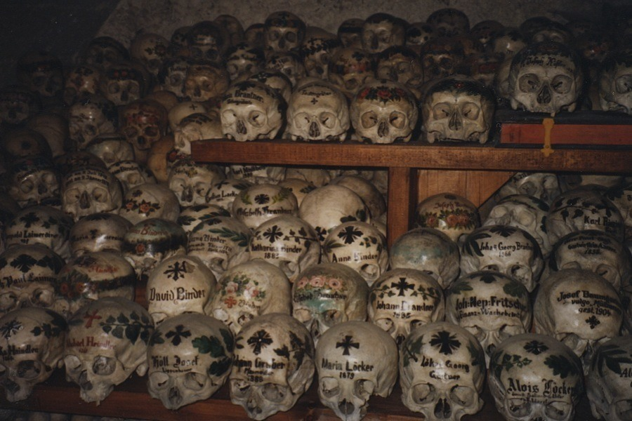 Creepy Europe Hallstatt Bonehouse
