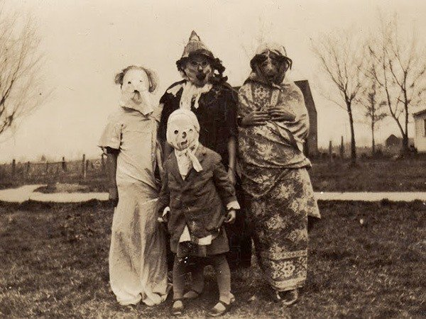 Group Of Costumed People