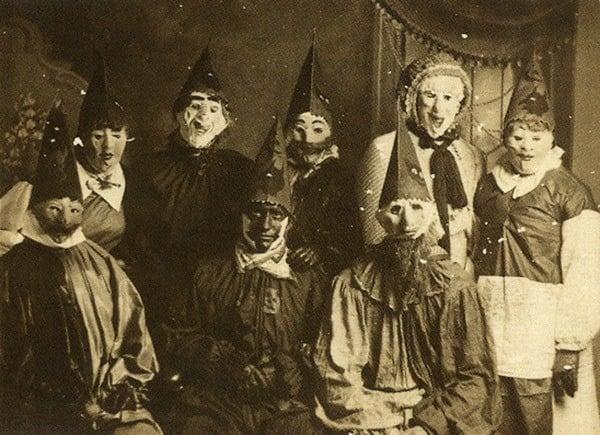 Creepy Vintage Halloween Costumes Pointy Hats