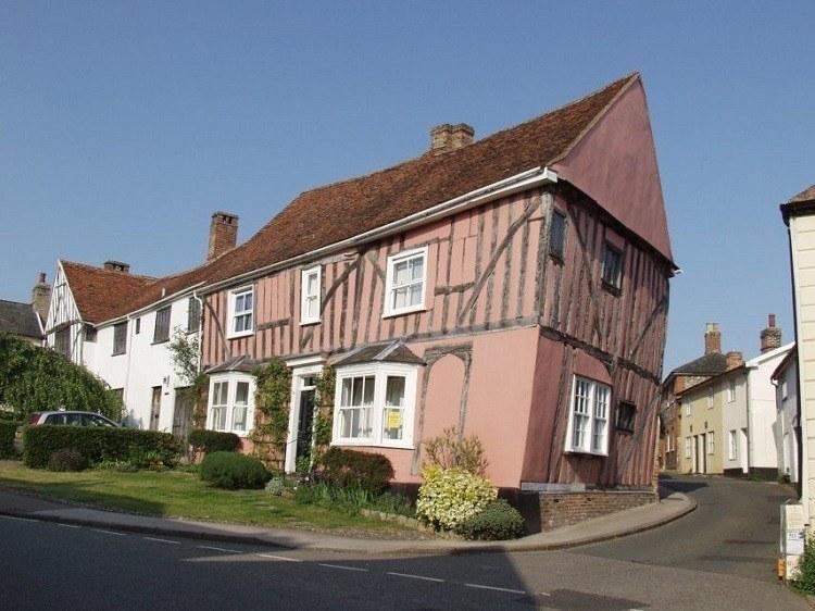 Crooked Houses Pink Lavenham