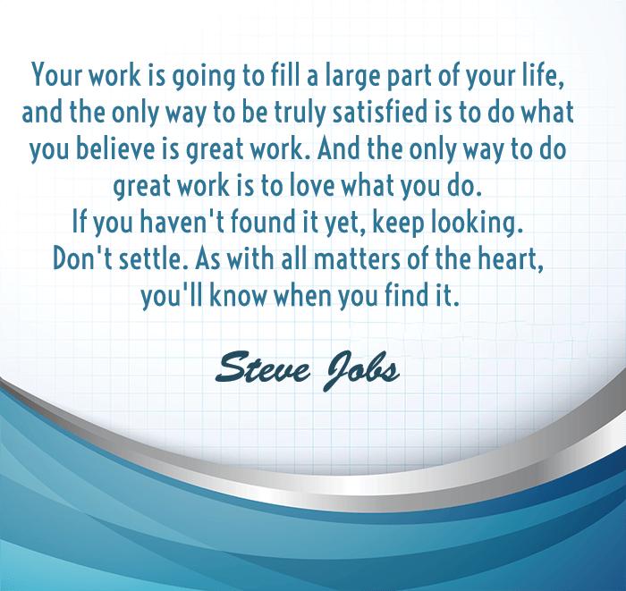 Steve Jobs On Settling