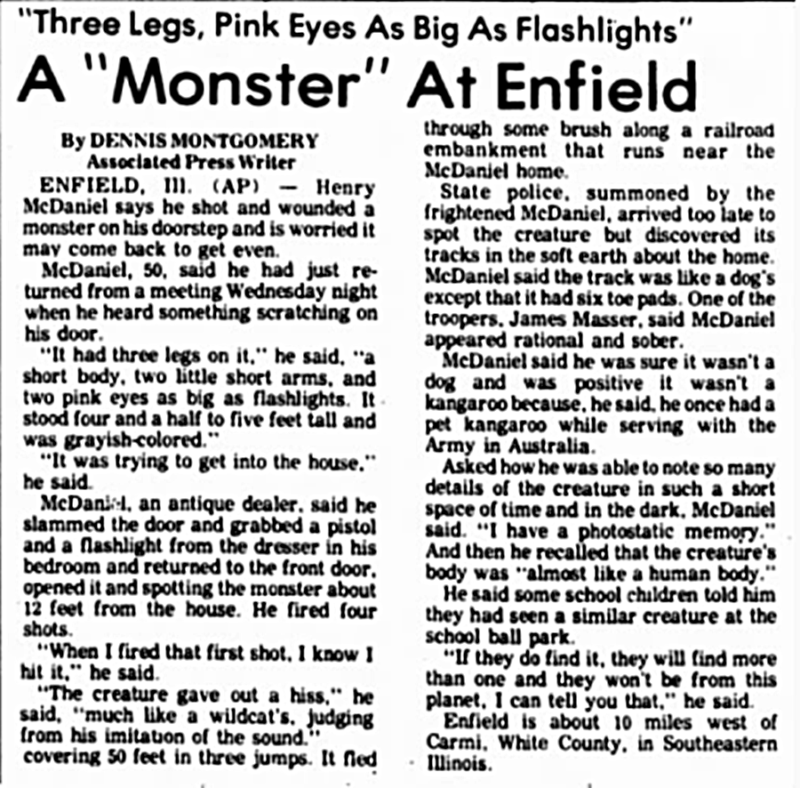 Creepy Stories Enfield Monster