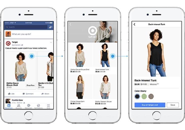 Facebook Direct Shopping Screenshots