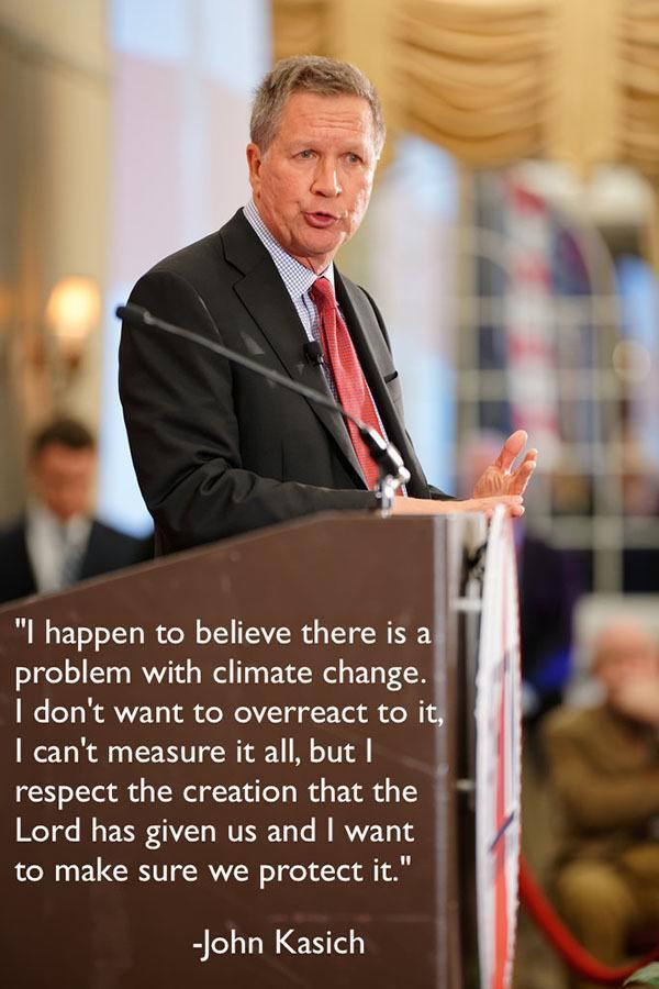 Gop Debates Climate Change Kasich Podium